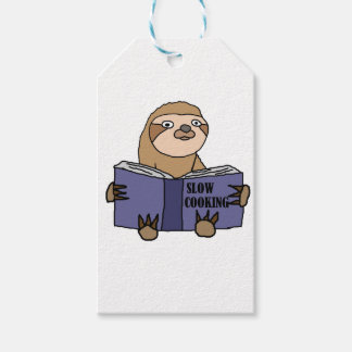 Funny Sloth Reading Slow Cooking Book