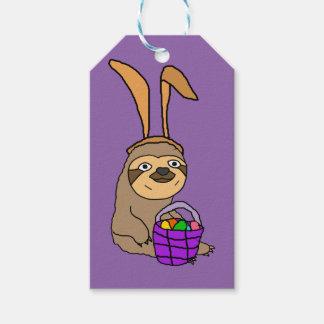 Funny Sloth Wearing Easter Bunny Ears