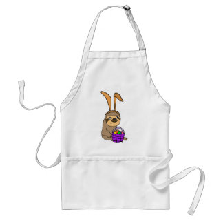 Funny Sloth Wearing Easter Bunny Ears Standard Apron