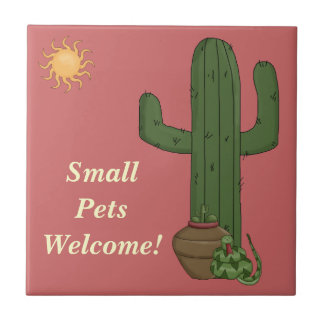 Funny Small Pets Welcome Rattlesnake Snake Lover Tile