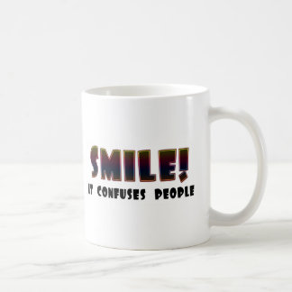 Funny Smile T-shirts Gifts Basic White Mug