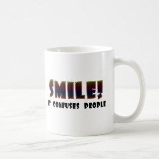 Funny Smile T-shirts Gifts Basic White Mug