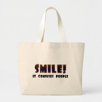 Funny Smile T-shirts Gifts Canvas Bags