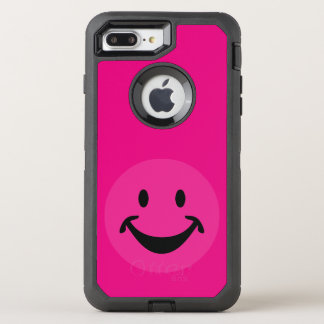 Funny Smiley face black+ your backg. & ideas OtterBox Defender iPhone 7 Plus Case