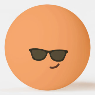 Funny Smiley Face. Emoji. Emoticon. Mr Cool! Ping Pong Ball