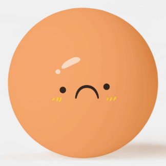 Funny Smiley Face. Emoji. Emoticon. Sad Smiley. Ping Pong Ball