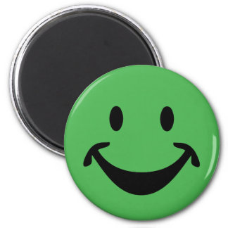 Funny Smiley face + your backg. & ideas Magnet