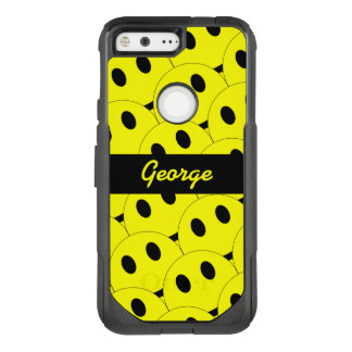 Funny Smiley Faces Smiling Happy Yellow Black OtterBox Commuter Google Pixel Case