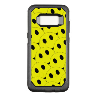 Funny Smiley Faces Smiling Happy Yellow Black OtterBox Commuter Samsung Galaxy S8 Case
