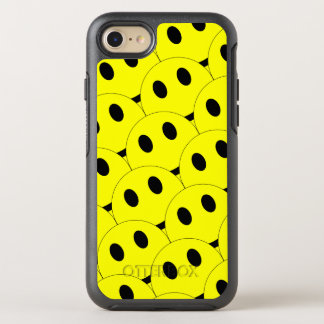 Funny Smiley Faces Smiling Happy Yellow Black OtterBox Symmetry iPhone 8/7 Case