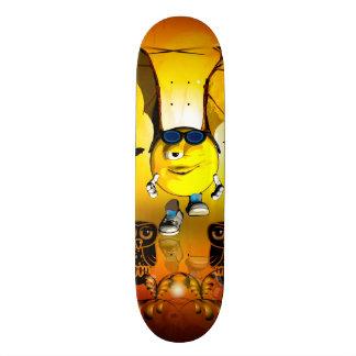 Funny smiley skate board decks