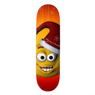Funny smiley skateboard deck