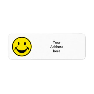 Funny Smiley yellow + your backg. & ideas Return Address Label