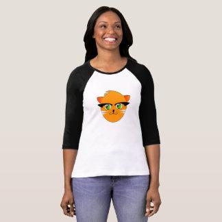 Funny Smiling Cartoon Cat, I Love Cats T-Shirt