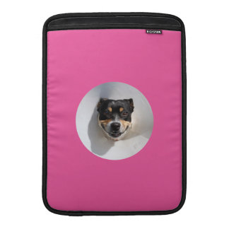 Funny smiling dog MacBook sleeve