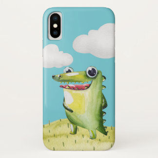 Funny Smiling Gator iPhone X Case