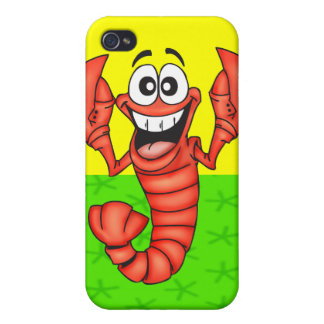 Funny Smiling Lobster Cases For iPhone 4