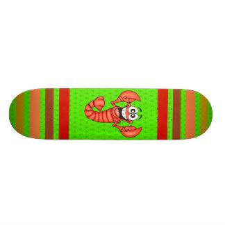Funny Smiling Lobster Skate Boards