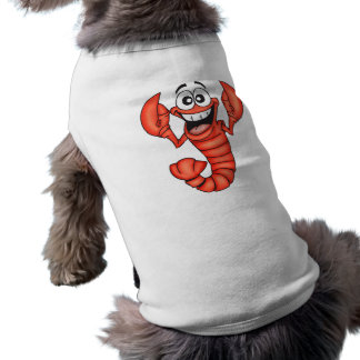 Funny Smiling Lobster Sleeveless Dog Shirt