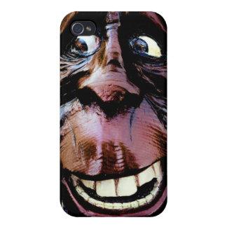 Funny Smiling Sasquatch Face iPhone 4/4S Cases