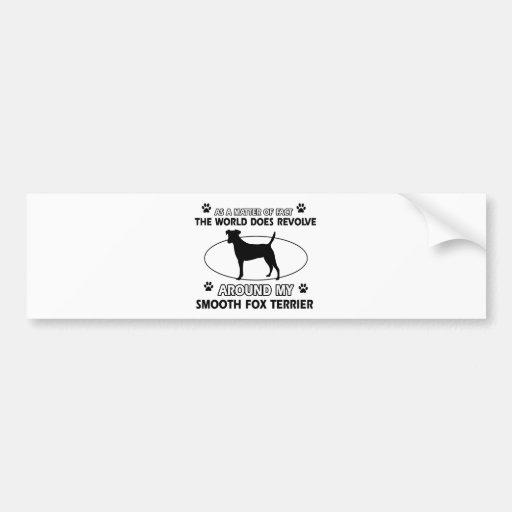Funny smooth fox terrier designs bumper sticker