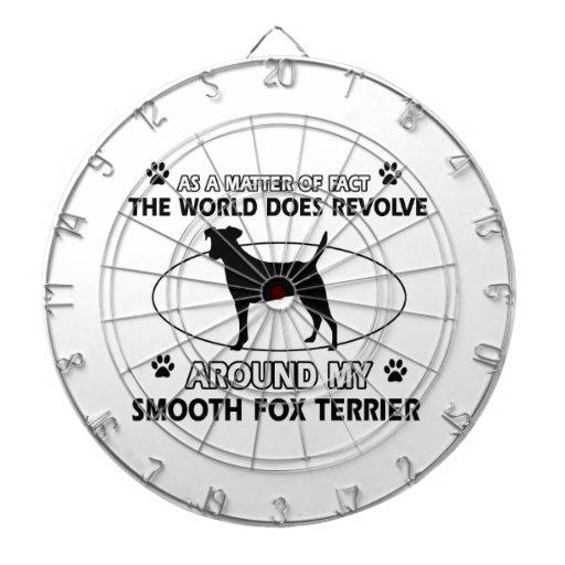 Funny smooth fox terrier designs dart board