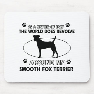 Funny smooth fox terrier designs mouse pad