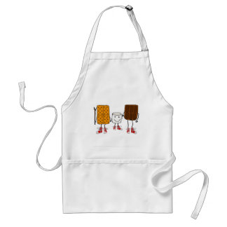 Funny Smores Characters Cartoon Standard Apron