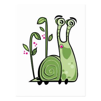 Funny Snail Postcard