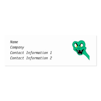 Funny Snake Cartoon. Pack Of Skinny Business Cards