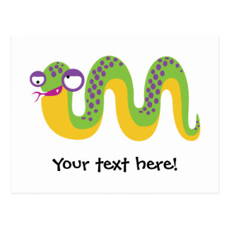 Funny Snake Postcard