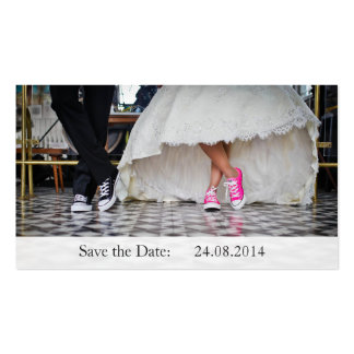 Funny Sneakers Save the Date Wedding Business Card Pack Of Standard Business Cards
