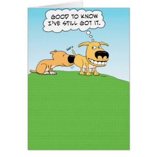 Funny Sniffing Dog Birthday Card