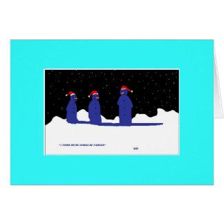 funny snowman card