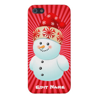 Funny Snowman Kid Cartoon Case For The iPhone 5