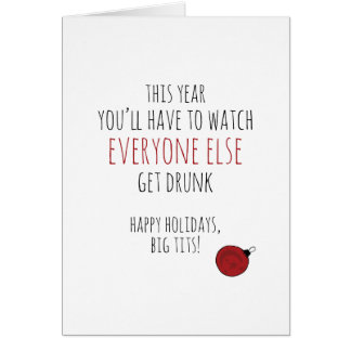 Funny sober pregnancy Christmas card