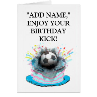 funny soccer birthday greeting card