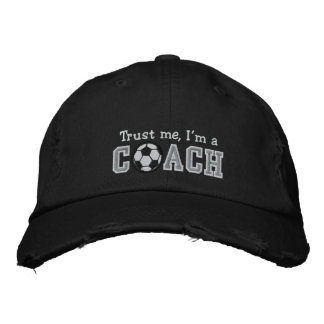 Funny Soccer Coach Embroidered Hat