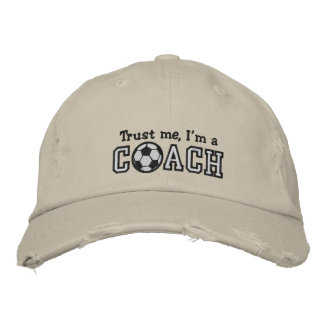 Funny Soccer Coach Embroidered Hats