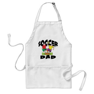 Funny Soccer Dad Father's Day Aprons