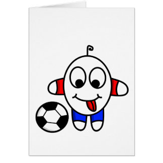 funny soccer dude card