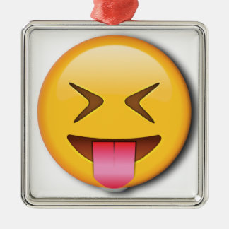 Funny Social Emoji Metal Ornament