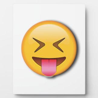 Funny Social Emoji Photo Plaque