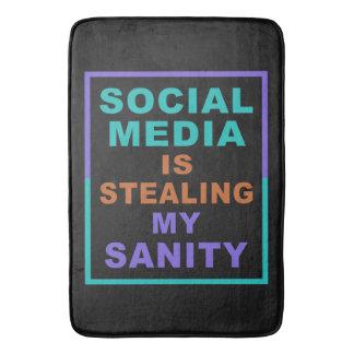 """Funny """"Social Media"""" bath mats"""