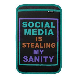 """Funny """"Social Media"""" custom MacBook Air sleeves"""