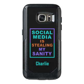 "Funny ""Social Media"" custom name phone cases"
