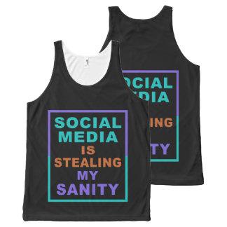 "Funny ""Social Media"" tank top"