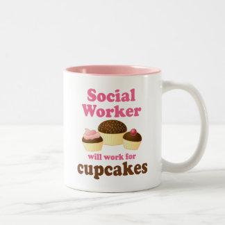 Funny Social Worker Two-Tone Coffee Mug