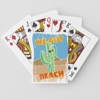 Funny southwestern desert cactus we got beach playing cards