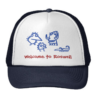Funny Space Alien Hat - Welcome to Roswell